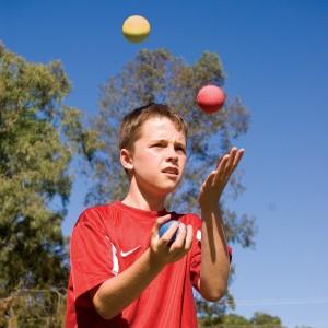 Child juggling